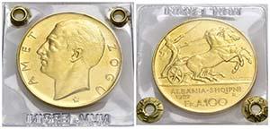 ALBANIA - Zogu I (1925-1939) - 100 Franchi - ...
