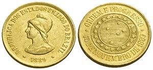 BRASILE - Repubblica (1889) - 20.000 Reis - ...
