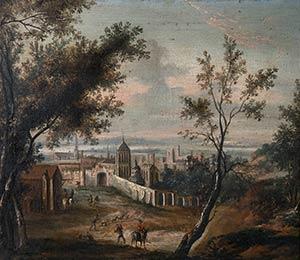 FLEMISH PAINTER, 18th CENTURYLandscape with ...