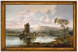 ANONIMOUS, 19th CENTURYLake landscape with ...