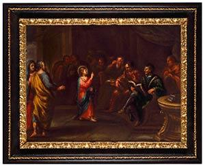 ROMAN SCHOOL, 18th CENTURYChrist among the ...