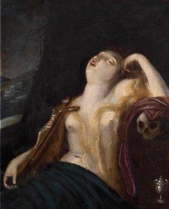 ANONIMO, XVIII SECOLOMaddalena penitenteOlio ...