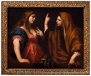 ANDREA VACCARO (Napoli, 1604 - 1670)Marta e ...