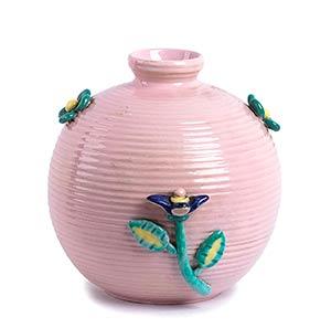 LA FIAMMA - ITALY  Pink painted ceramic vase ...
