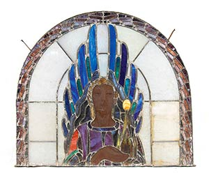 ITALIAN MANUFACTURE  Stained glass window ...