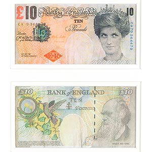 BANKSY  Bristol, 1969/1974  Difaced Tenners, ...