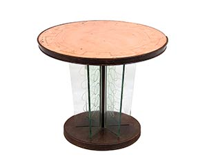 LUIGI BRUSATI Coffee table with wooden base, ...