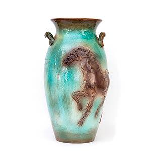 UMBERTO GHERSI - ALBISOLA  Vase decorated ...