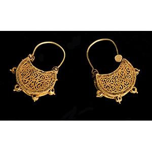 Eccezionale coppia di orecchini in oro di ...