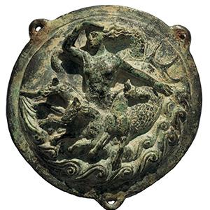 Bronze applique with Scylla 2nd- 1st century ...
