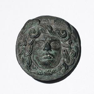 Bronze stud with Medusa head 2nd century BC ...