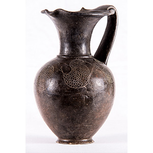 Affascinante oinochoe etrusco in impasto VII ...