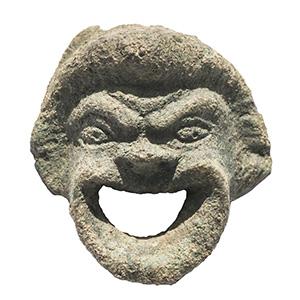 Roman bronze theatre mask applique 1st-2nd ...