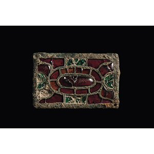 Bronze with glass plaque 6th-7th century AD; ...