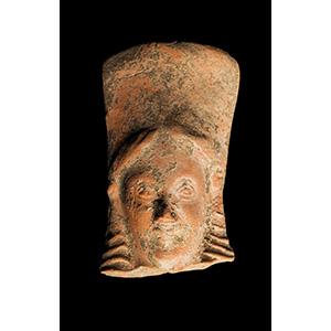 Head of a terracotta kore in Daedalic style ...