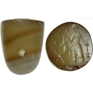 Achaemenid Agate Seal 5th - 4th century BC; ...