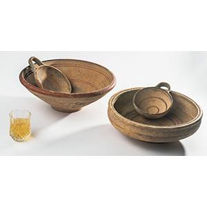 Gruppo di due coppette e due piatti Dauni ...