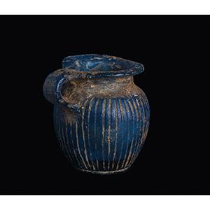 A miniaturistic blue glass Jug 2nd - 1st ...