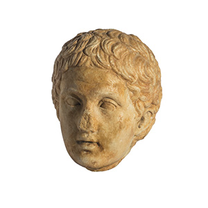 Head of a youth 1st - 2nd century AD; height ...