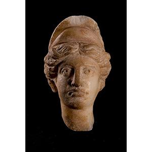 Head of a Goddess 2nd century AD; height cm ...