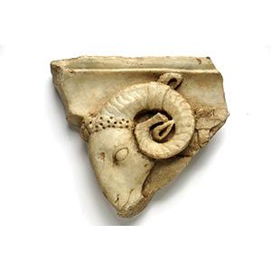 Lesene with a ram head 1st - 2nd century AD; ...