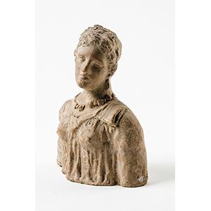 Terracotta Tanagra style female bust  Magna ...