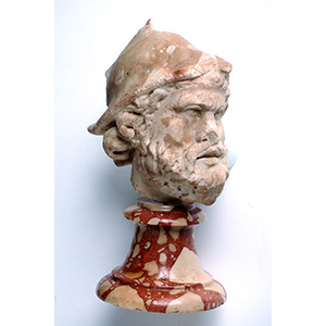 Head of helmeted and bearded soldier 3rd - ...