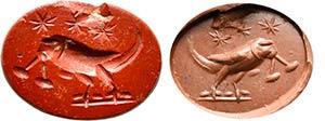 Intaglio romano in diaspro rosso. ...
