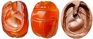 Scarabeo etrusco in corniola (foro ...