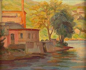NINO BERTOLETTIRome, 1889 - 1971Red house on ...