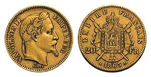 France, Napoléon III (1852-1870). AV 20 ...