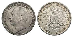 Germany, Baden. Friedrich II (1907-1918). AR ...
