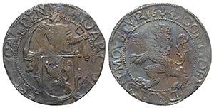 Netherlands, Kampen. AR Leeuwendaalder 1649 ...