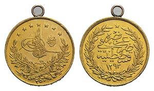 Turkey, Abdul Hamid II (1876-1909). AV 250 ...