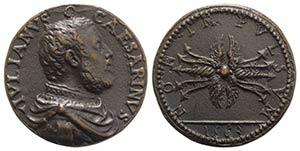 Giuliano Cesarini (1491-1566). Æ Medal 1563 ...