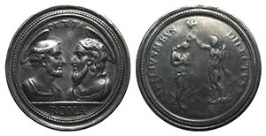 Italy, 19th century. White Metal Medal ...