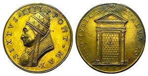 Papal, Sisto IV (1471-1484). Gilt Æ ...