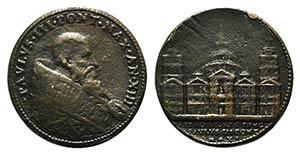 Papal, Paolo III (1534-1559). Æ Medal ...