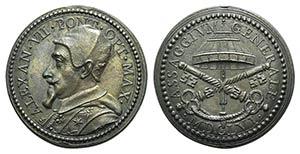 Papal, Alessandro VII (1655-1667). Æ Medal ...