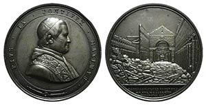 Papal, Pio IX (1846-1878). Æ Medal 1858 ...