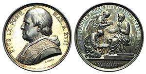 Papal, Pio IX (1846-1878). AR Medal 1862 ...