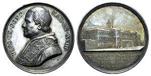 Papal, Pio IX (1846-1878). AR Medal 1863 ...