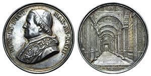 Papal, Pio IX (1846-1878). AR Medal 1868 ...