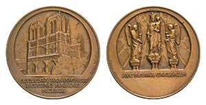 France, Æ Medal 1863 (55mm, 73.19g, 12h), ...
