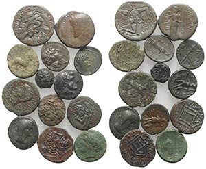 Sicily, lot of 13 Æ Greek coins, to be ...