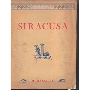 A.A.V.V. -  SIRACUSA. -  Siracusa, 1931. Pp. ...