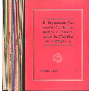 A.A.V.V.  Lotto  17 opuscoli II EXPOSICIÓN ...