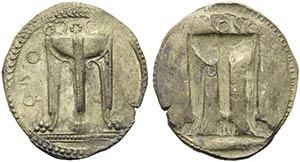 Bruttium, Kroton, c. 530-500 BC. AR (31mm, ...