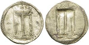Bruttium, Kroton, c. 530-500 BC. AR (29mm, ...