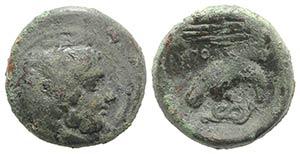 Bruttium, Kroton, c. 350-300 BC. Æ (19mm, ...